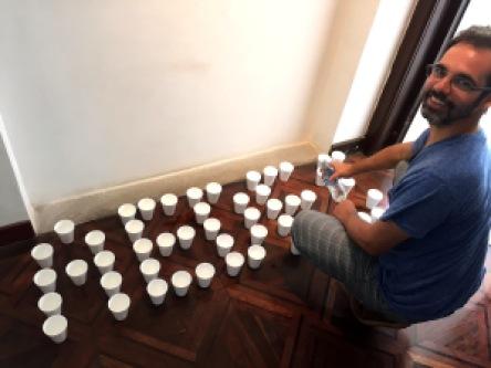 montagem da instalação Aedes