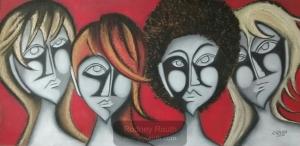 Quatro mulheres obra de Rodney Rauth