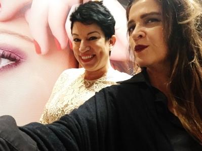 Hilda Machado e esta colunista Vanessa Malucelli