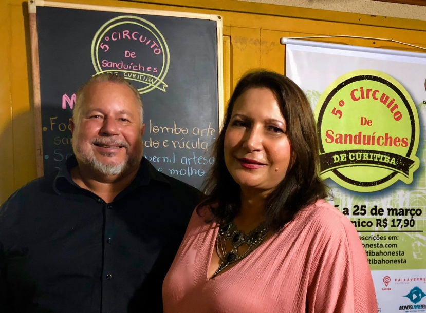 Sergio Medeiros e Nilcea Almeida - Circuito de Sanduíches de Curitiba
