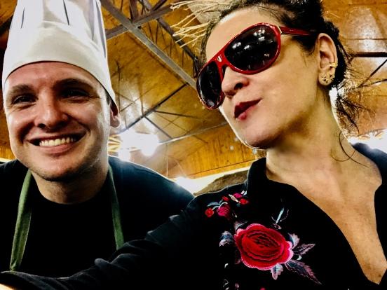 Vanessa Malucelli e Reinhard Pfeiffer, o Chef da Bela Mata