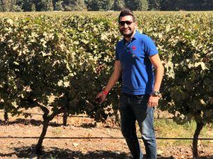 Juliano Maia Loss visita Viñas Cousiño Macul