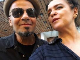 Vanessa Malucelli com Sergio Britto — TITÃS