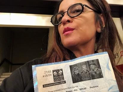 Vanessa Malucelli no show dos TITÃS — Festival de Curitiba 2018