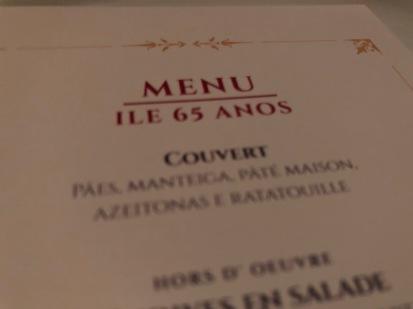 Ile de France — Menu 65 anos