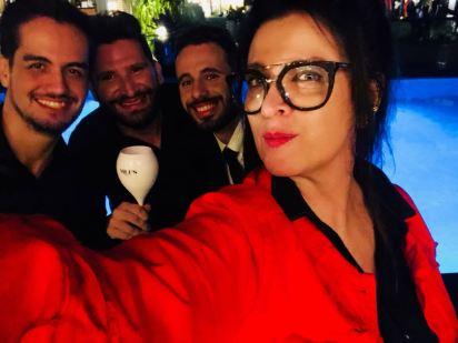 Vanessa Malucelli com Vinicius, Leandro Nascimento e Juliano Maia Loss na CASACOR PARANÁ 2018