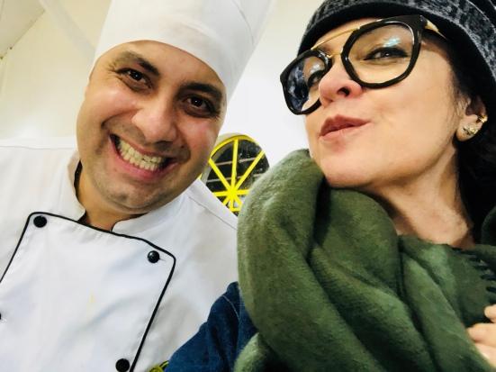 O Chef e esta colunista — 8º Festival Pão com Bolinho de Curitiba
