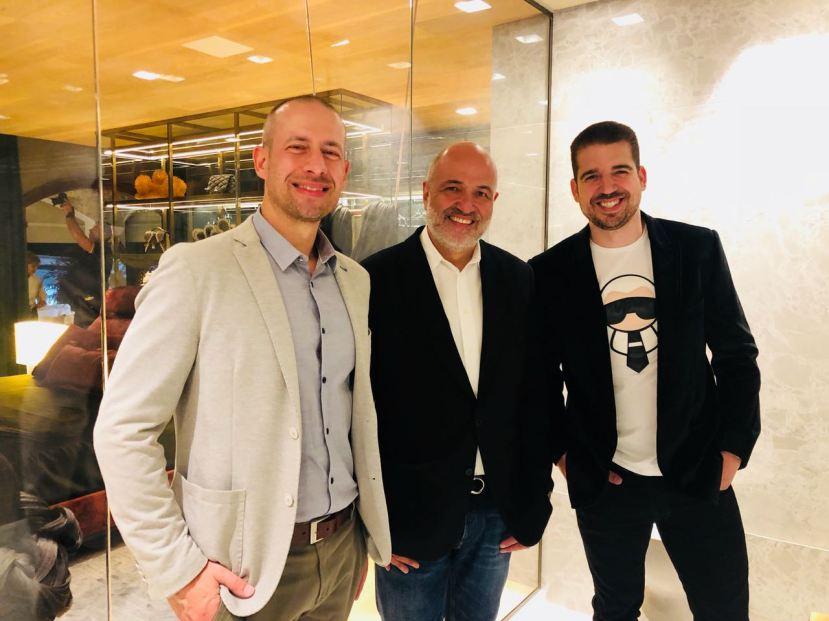 Arquiteto Jayme Bernardo, com parceiros na CasaCôr Paraná 2018