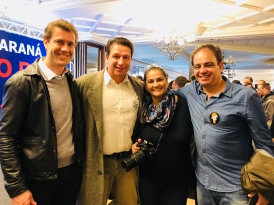 Egídio Munareto, Gisele Pimenta e Fabiano Braga Cortes — Álvaro Dias Presidente 2018