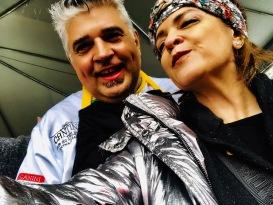 Chef Délio Canabrava e Vanessa Malucelli na Queima do alho