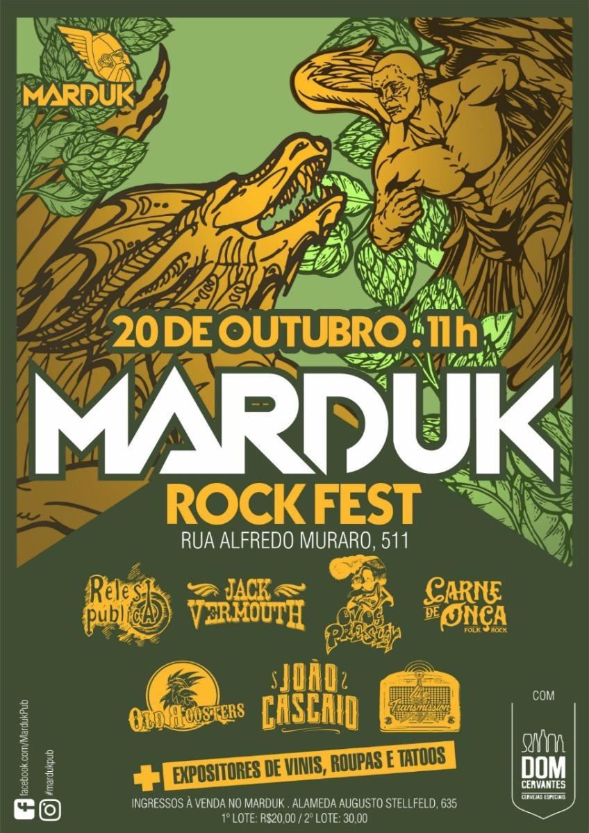 Rock Fest comemora quatro anos do bar Marduk neste sábado em Curitiba
