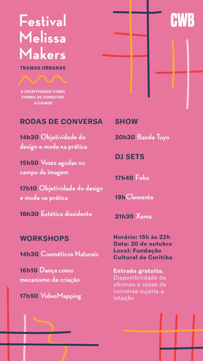 Festival Melissa Makers acontece em Curitiba