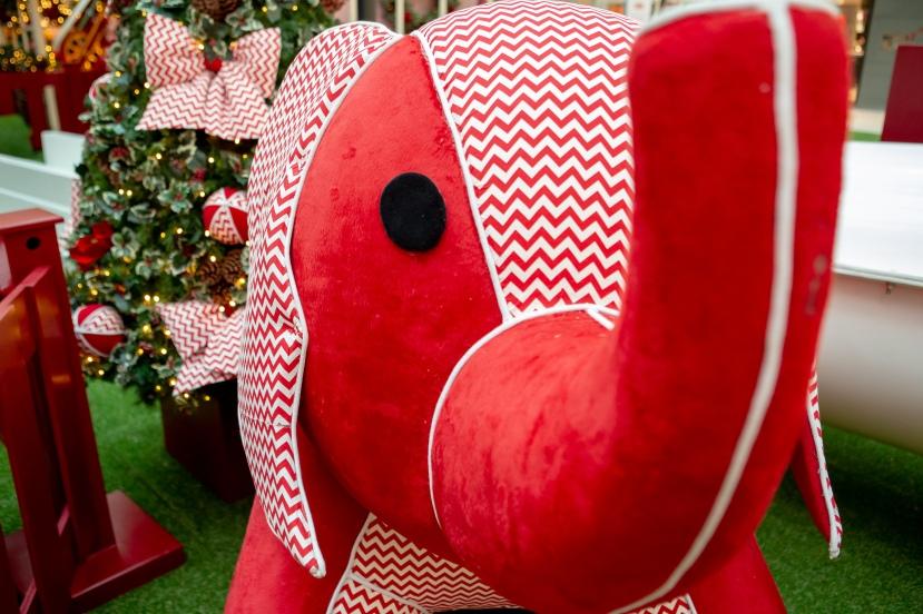 O_elefante_como_que_faz_parte_da_decoração_com_o_tema_Fábrica_de_Brinquedos