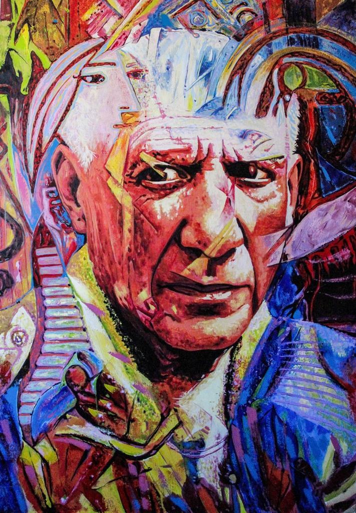 Retrato_Metafísico_de_Picasso._Acrílica_sobre_tela._90x130cm.