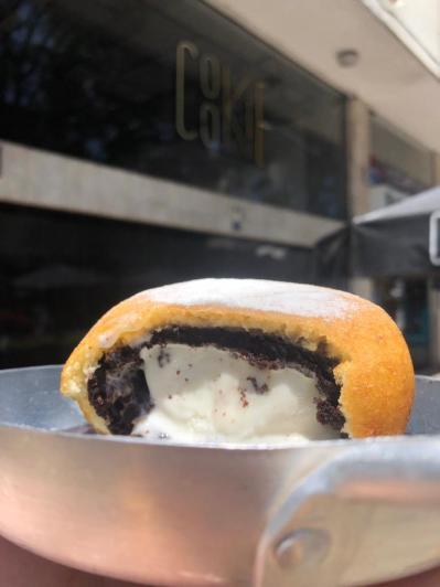 brownie com sorvete frito 4