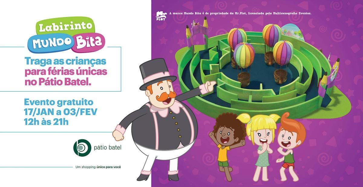 Pátio Batel traz o Labirinto do Bita para evento de férias