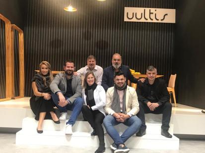 Uultis staff at Salone del Mobile.Milano 2019_Photo credit Courtesy Uultis