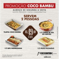Coco Bambu anuncia pratos promocionais no valor de R$49,90