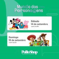 Peppa Pig, Galinha Pintadinha e personagens da Disney animam fim de semana em shopping de Curitiba