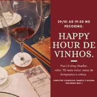 Happy hour de vinhos traz novidades e novos antepastos nesta quarta-feira