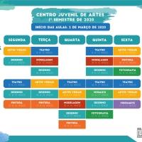 Inscrições abertas para os cursos do Centro Juvenil de Artes