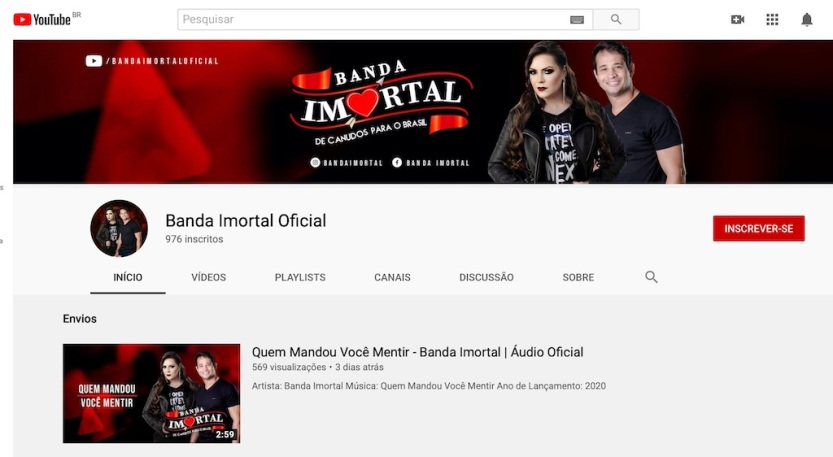 Banda Imortal - Canal Youtube
