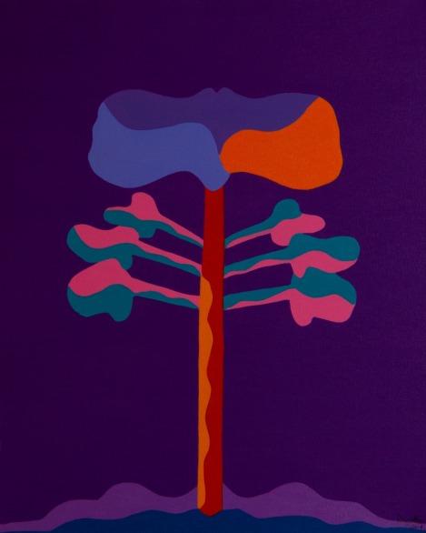 Araucária 5, Acrílica sobre tela, 50 x 40 cm, 2019, Luiz Arthur Montes Ribeiro, Preço final 1.099,00]