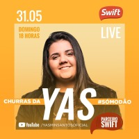 "SWIFT patrocina live ""Churras da Yas"""