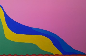 Jardim e Mar Imaginários da minha solidão 07, mista sobre tela, 80 x 120 cm, Luiz Arthur Montes Ribeiro, Preço final R$ 3.360,