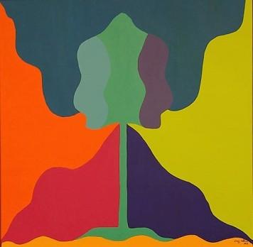 Transição 2, Acrílica sobre tela, 50 x 50 cm, 2018 Luiz Arthur Montes Ribeiro, Preço final_1.129,00
