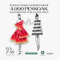 Bazar de Moda Beneficente do Somos + Arq. PR, em parceria com os shoppings, arrecada mais de R$39 mil