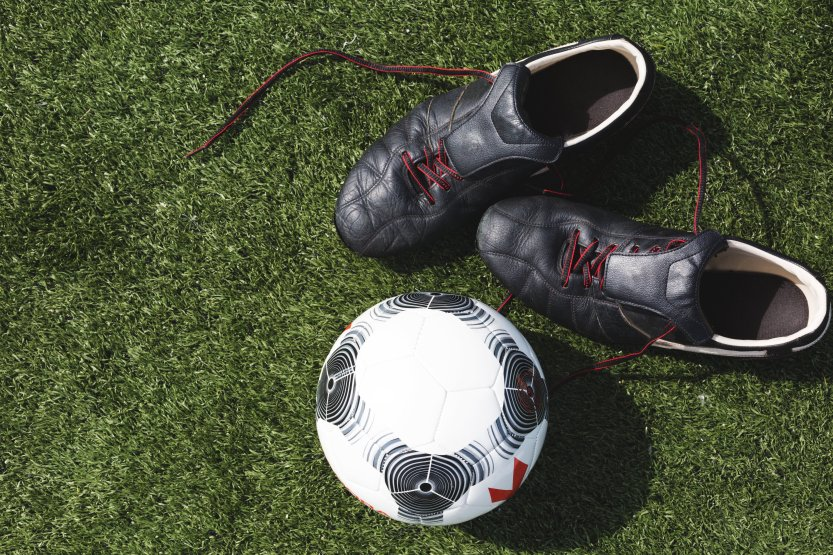 soccer-cleats-and-ball
