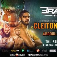 Com defesa de título do campeão Cleiton ''Predador'', BRAVE CF 44 tem card completo divulgado