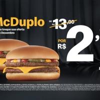 Méqui Friday tem dois McDuplo por R$ 2,99 em dezembro