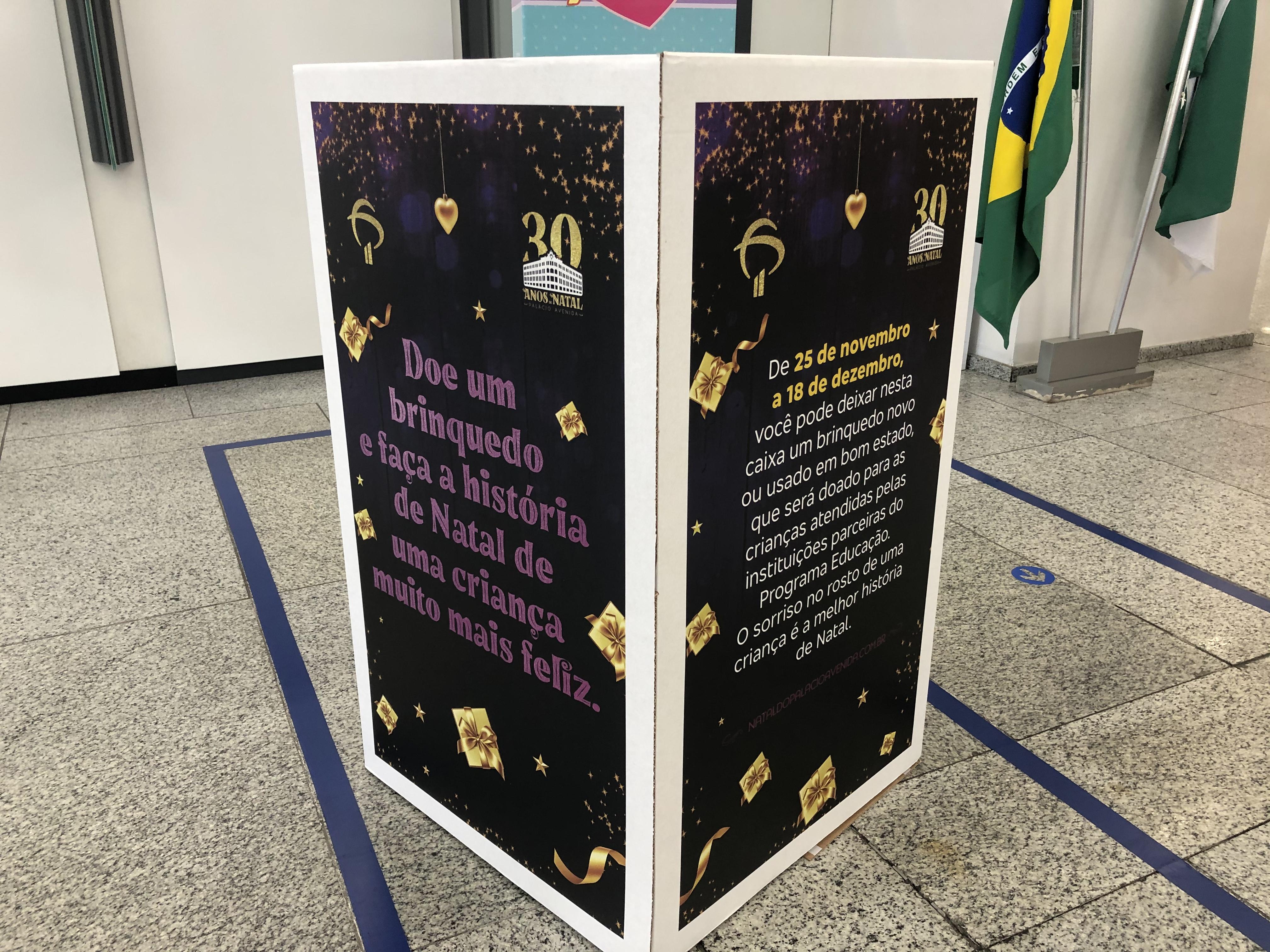 Caixa de Doação_Agência Bradesco Palácio Avenida