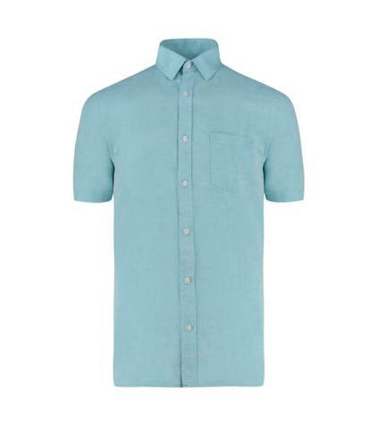 Camisa de linho lisa