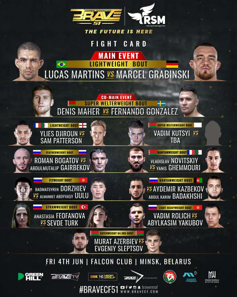 BRAVE CF 51 Fight Card Poster