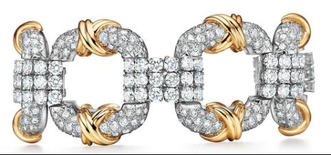 Tracee_Ellis_Ross_Bracelete_Tiffany&Co._Schlumberger®_Cooper_em_platina_e_ouro_amarelo_18k_com_diamantes