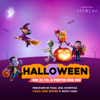 Halloween com apresentações de teatro, personagens aterrorizantes, caça aos doces e espaço instagramável